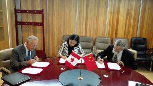 Signature with Hanban