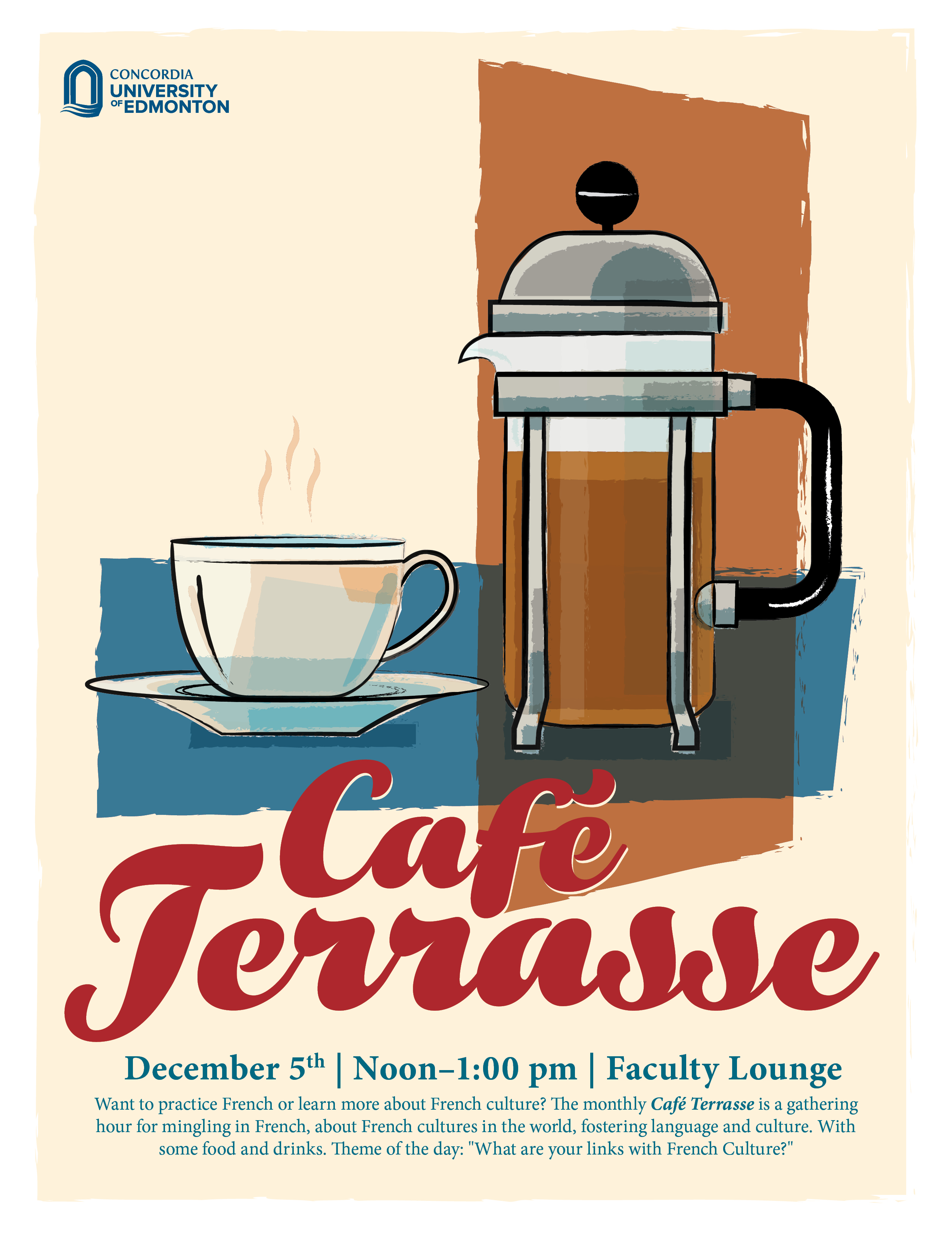 Invitation to second caf terrasse french mingling monday cafeterrasseposterdec2016 stopboris Gallery