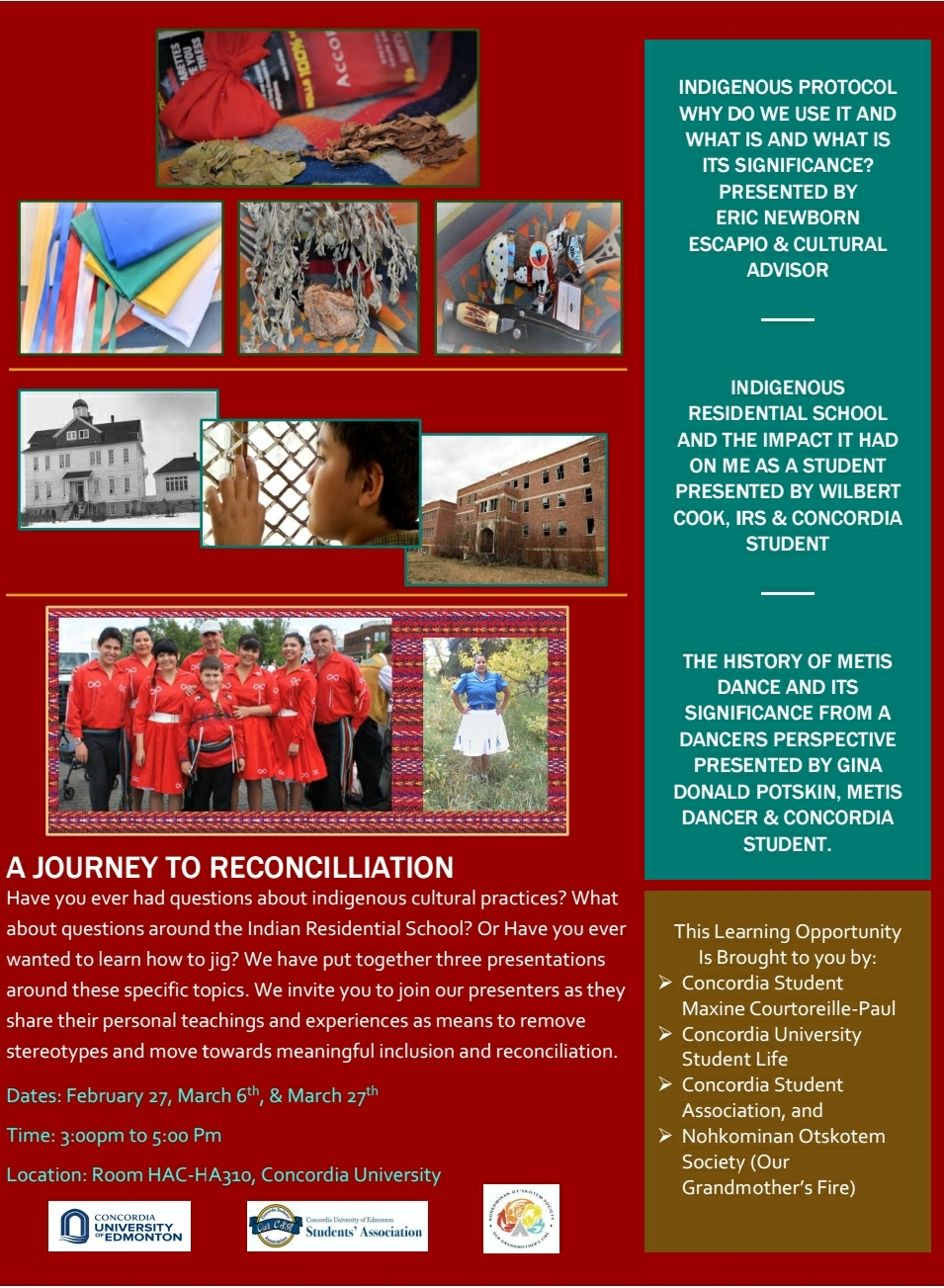 A Journey to Reconciliation  Presentations on Indigenous