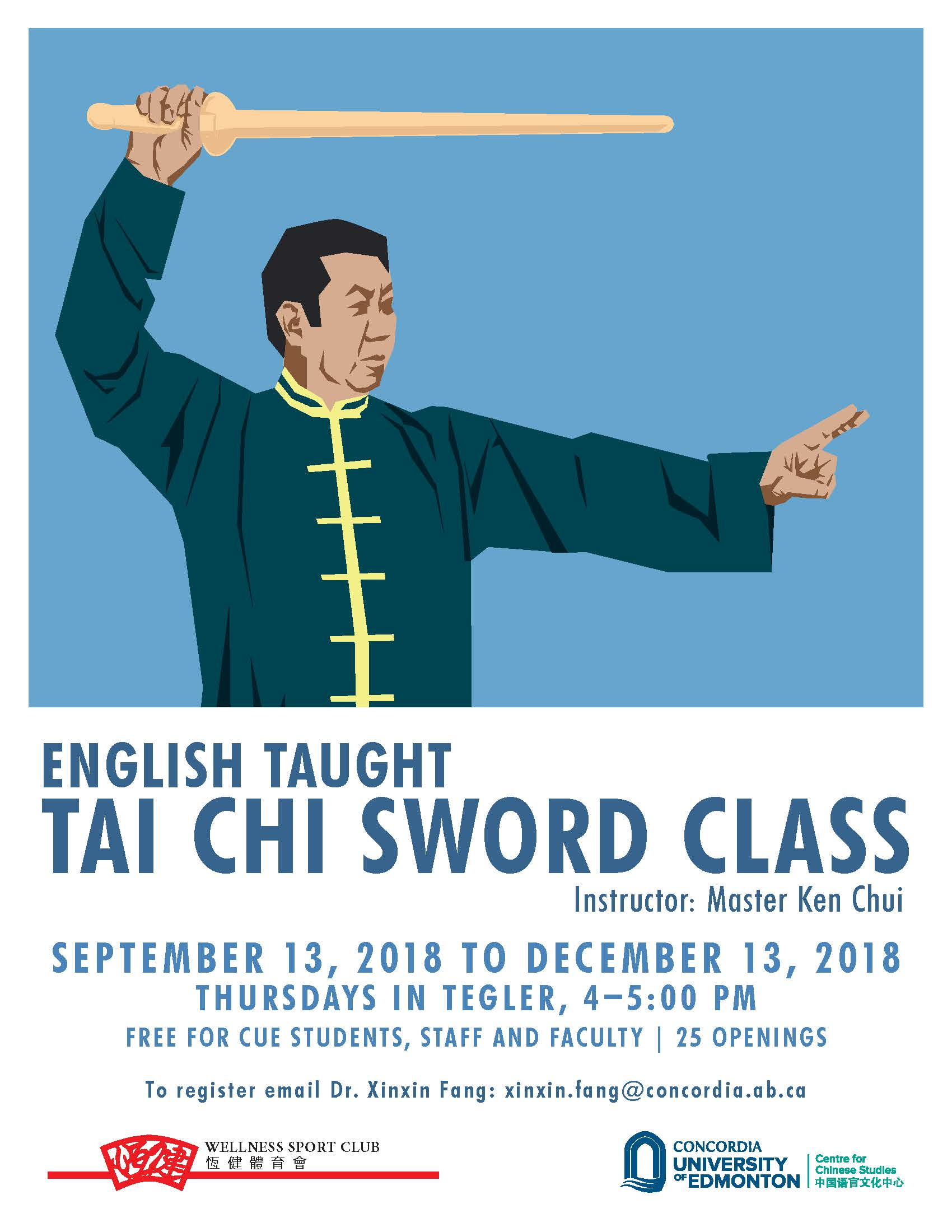 Free Tai Chi Sword Class & Chinese Language Classes This Fall