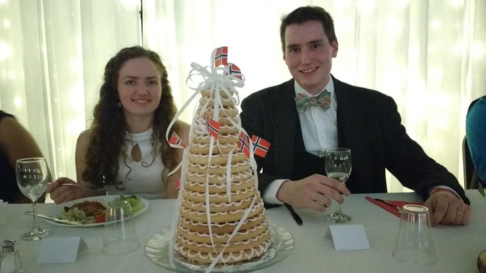 Family photo at Erin & Macalan's wedding
