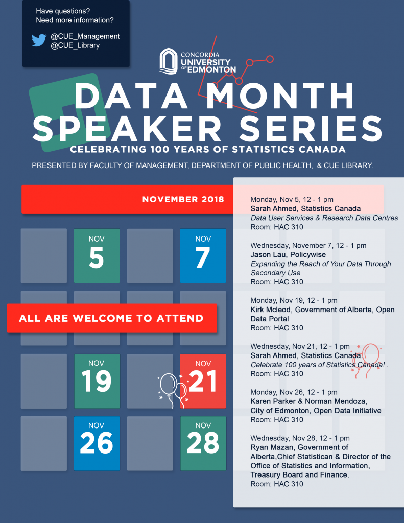CUE's Data Month Speaker Series : Celebrating 100 Years of Statistics Canada