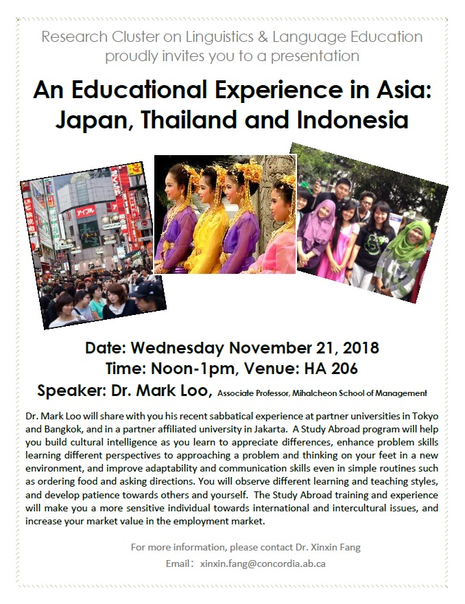 Presentation on An Educational Experience in Asia: Japan