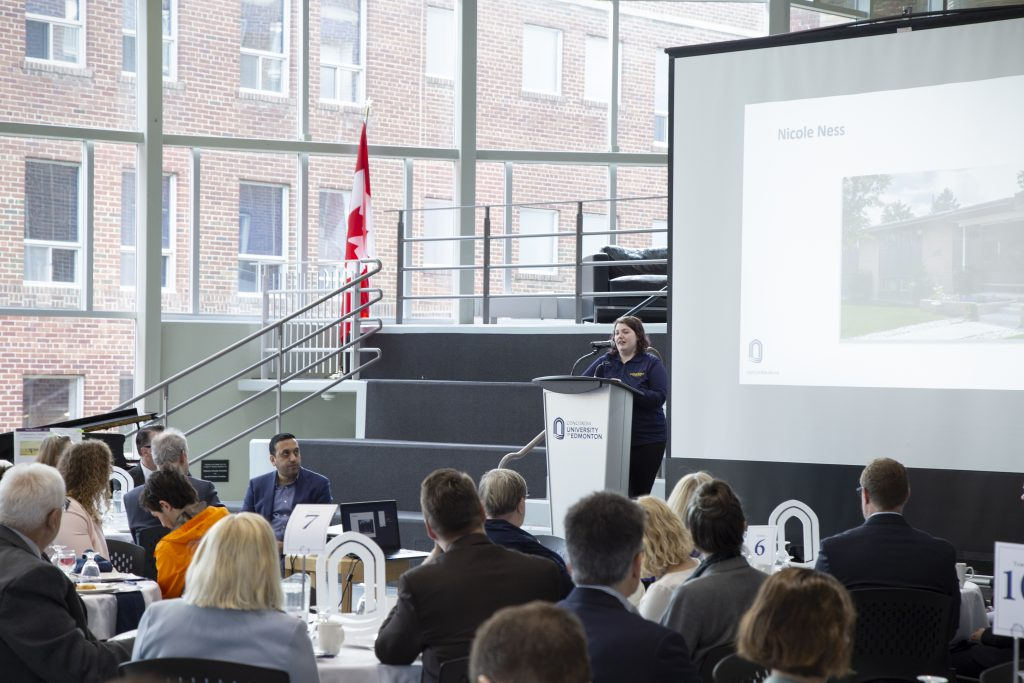 CUE Student, Nicole Ness, tells her story at The President's Fundraising Breakfast for Mental Health