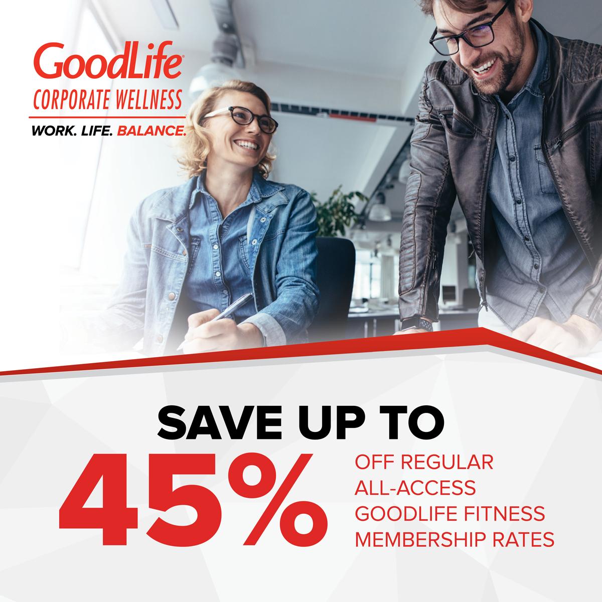 Goodlife Fitness Corporate Membership Concordia University Of Edmonton